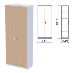 """Шкаф закрытый """"Бюджет"""", 716х349х1810 мм, орех онтарио (КОМПЛЕКТ)"""