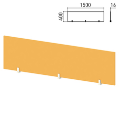 "Экран-перегородка ""Профит"", 1500х16х400 мм, оранжевый (КОМПЛЕКТ)"