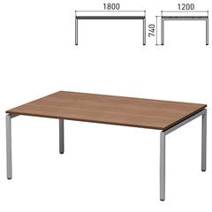 """Стол для переговоров """"Старк"""", 1800х1200х740 мм, орех онтарио (КОМПЛЕКТ)"""