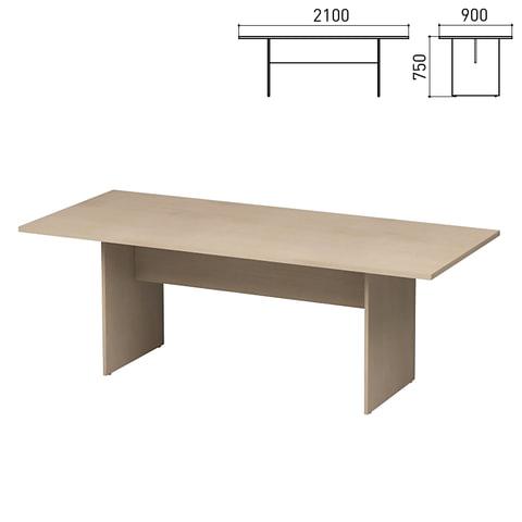 """Стол для переговоров """"Директ"""", 2100х900х750 мм, дуб шамони (КОМПЛЕКТ)"""