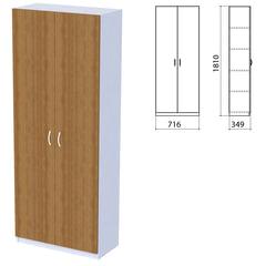 """Шкаф закрытый """"Бюджет"""", 716х349х1810 мм, орех французский (КОМПЛЕКТ)"""