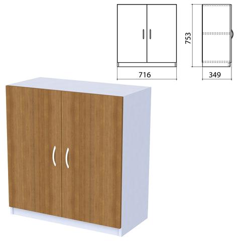 """Шкаф закрытый """"Бюджет"""", 716х349х753 мм, орех французский (КОМПЛЕКТ)"""