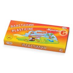 """Пластилин классический ГАММА """"Мультики"""", 6 цветов, 120 г, со стеком, картонная упаковка"""