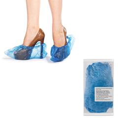 Бахилы, комплект 100 штук (50 пар), чехлы для обуви, размер 39х15 см, ПНД 10 мкм, в евроупаковке