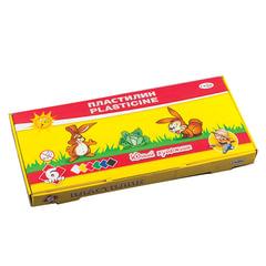 """Пластилин классический ГАММА """"Юный художник"""", 6 цветов, 84 г, со стеком, картонная упаковка, 280042"""