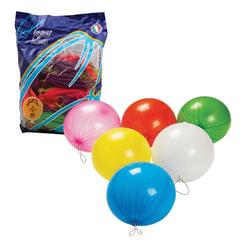 """Шары воздушные 16"""" (41 см), комплект 25 шт., панч-болл (шар-игрушка с резинкой), 12 неоновых цветов, пакет"""