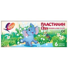 """Пластилин классический ЛУЧ """"Zoo"""", 6 цветов, 81 г, картонная коробка"""