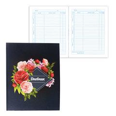"""Дневник для 5-11 классов, твердый, BRAUBERG, блестки, """"Прекрасные цветы на черном"""""""