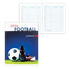 """Дневник для 5-11 классов, твердый, BRAUBERG, выборочный лак, """"Футбол"""""""