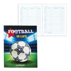 """Дневник для 5-11 классов, твердый, BRAUBERG, выборочный лак, """"Футбол это жизнь"""""""