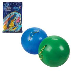 """Шары воздушные 16"""" (41 см), комплект 25 шт., панч-болл (шар-игрушка с резинкой), 12 цветов, 8 рисунков, пакет"""