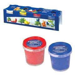 Пластилин на растительной основе (тесто для лепки) STAEDTLER, 4 цвета, 520 г, (белый, желтый, красный, синий)