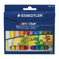 """Пластилин классический STAEDTLER (Германия) """"Noris Club"""", 10 цветов, 200 г, картонная упаковка"""