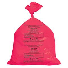 Мешки для мусора медицинские, в пачке 50 шт., класс В (красные), 30 л, 50х60 см, 15 мкм, АКВИКОМП