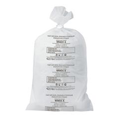 Мешки для мусора медицинские, в пачке 50 шт., класс А (белые), 80 л, 70х80 см, 15 мкм, АКВИКОМП