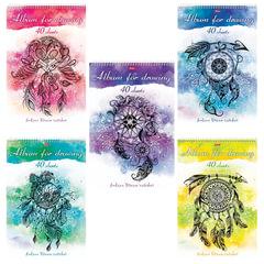 """Альбом для рисования, А4, 40 листов, спираль, 3D-лак, HATBER, 205х300, """"Ловец снов"""", 40А4лолВсп"""