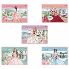 """Альбом для рисования А4 40 л., скоба, обложка картон, HATBER, 205х290 мм, """"Грёзы принцесс"""", 40А4"""