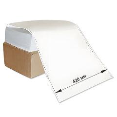 """Бумага с неотрывной перфорацией, 420х305(12"""")х2000 (1600 л.), плотность 65 г/м2, белизна 98%, STARLESS"""