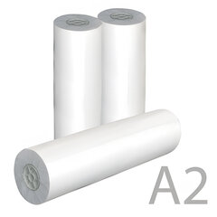 Рулон для плоттера, 420 мм х 175 м х втулка 76 мм, 80 г/м2, белизна CIE 162%, диаметр 170 мм, STARLESS