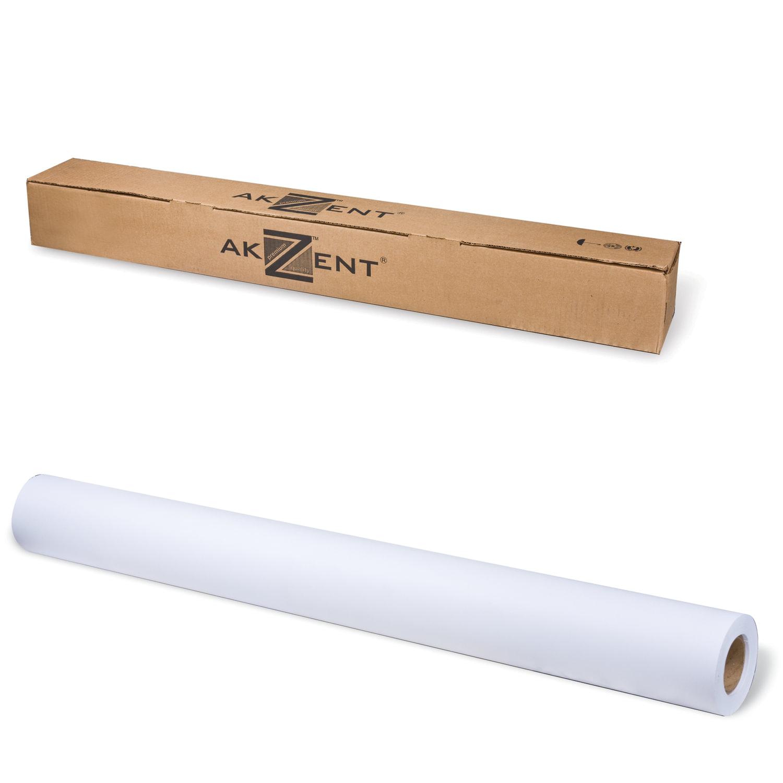 Рулон для плоттера, 914 мм х 30 м х втулка 50,8 мм, 120 г/м2, белизна CIE 161%, Color Coated AKZENT