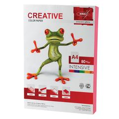 Бумага CREATIVE color (Креатив), А4, 80 г/м2, 100 л., интенсив розовая