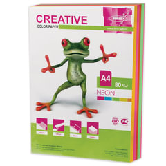 Бумага CREATIVE color (Креатив), А4, 80 г/м2, 250 л. (5 цв. х 50 л.), цветная неон