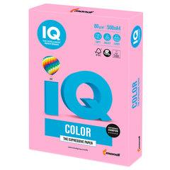 Бумага цветная IQ color, А4, 80 г/м2, 500 л., неон, розовая, NEOPI