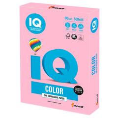 Бумага цветная IQ color, А4, 80 г/м2, 500 л., пастель, розовый фламинго, OPI74