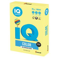 Бумага цветная IQ color, А4, 80 г/м2, 500 л., умеренно-интенсив, лимонно-желтая, ZG34