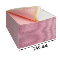 """Бумага самокопирующая с перфорацией цветная, 240х305 мм (12""""), 3-х слойная, 600 комплектов, DRESCHER"""