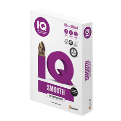 Бумага IQ SELECTION SMOOTH, А4, 100 г/м2, 500 л., для струйной и лазерной печати, А+, Австрия, 169% (CIE)
