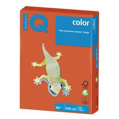 Бумага IQ (АйКью) color, А3, 80 г/м2, 500 л., интенсив красный кирпич, ZR09