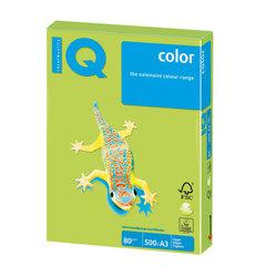 Бумага IQ (АйКью) color, А3, 80 г/м2, 500 л., интенсив зеленая липа, LG46