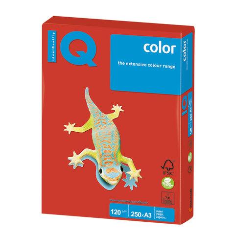 Бумага IQ (АйКью) color, А3, 120 г/м2, 250 л., интенсив кораллово-красная, CO44