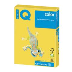 Бумага IQ (АйКью) color, А3, 120 г/м2, 250 л., интенсив канареечно-желтая, CY39