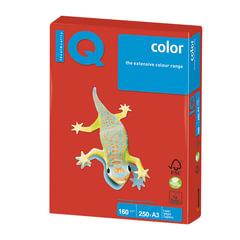 Бумага IQ (АйКью) color, А3, 160 г/м2, 250 л., интенсив кораллово-красная, CO44