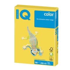 Бумага IQ (АйКью) color, А3, 160 г/м2, 250 л., интенсив канареечно-желтая, CY39