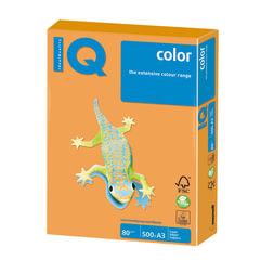 Бумага IQ (АйКью) color, А3, 80 г/м2, 500 л., неон оранжевая, NEOOR