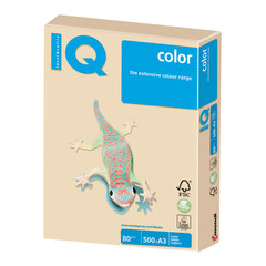 Бумага IQ (АйКью) color, А3, 80 г/м2, 500 л., пастель темно-кремовая, SA24