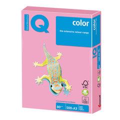 Бумага IQ (АйКью) color, А3, 80 г/м2, 500 л., пастель розовый фламинго, OPI74