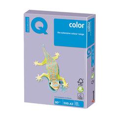 Бумага IQ (АйКью) color, А3, 80 г/м2, 500 л., умеренно-интенсив (тренд) бледно-лиловая, LA12