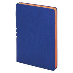 """Блокнот А5 (140x200 мм), BRAUBERG """"NEBRASKA"""", 112 л., гибкий кожзам, ручка, линия, синий, 110948"""