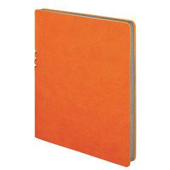 "Тетрадь БОЛЬШОЙ ФОРМАТ (220х265 мм) А4, BRAUBERG ""NEBRASKA"", 96 л., гибкий кожзам, ручка, клетка, оранжевый, 110961"