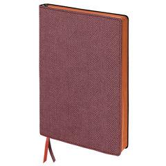 """Блокнот А5 (148x213 мм), BRAUBERG """"Tweed"""", 112 л., под ткань, линия, бордовый, 110963"""