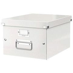 """Короб архивный LEITZ """"Click & Store"""" M, 200х280х370 мм, ламинированный картон, разборный, белый"""