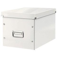 """Короб архивный LEITZ """"Click & Store"""" L, 310х320х360 мм, ламинированный картон, разборный, белый"""