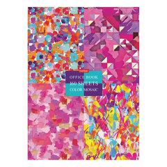 """Блокнот в твердом переплете, А4, 160 листов, блок 5 цветов, клетка, HATBER, """"Graphic Arts"""", 160ББ4В1_22025"""
