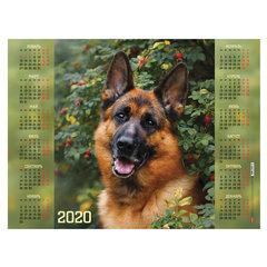 """Календарь, А2, 2020 год, 60х45 см, горизонтальный, """"Верный друг"""", HATBER, Кл2_21061"""