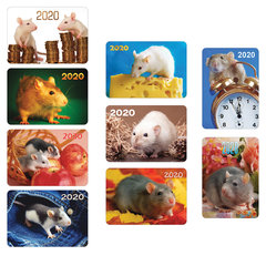 """Календарь карманный 2020 год, 7х10 см, ламинированный, """"Знак Года"""", HATBER, 326473"""
