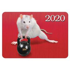 """Календарь карманный 2020 г, 7х10 см, ламинированный, """"Знак Года-прикольные мышки"""", HATBER, 326572"""